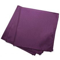 "Lot de 3 Serviettes de Table ""Essentiel"" 40x40cm Prune"