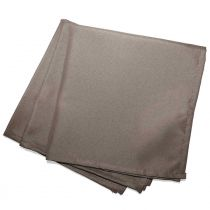 "Lot de 3 Serviettes de Table ""Essentiel"" 40x40cm Taupe"