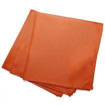 "Lot de 3 Serviettes de Table ""Essentiel"" 40x40cm Orange Brique"