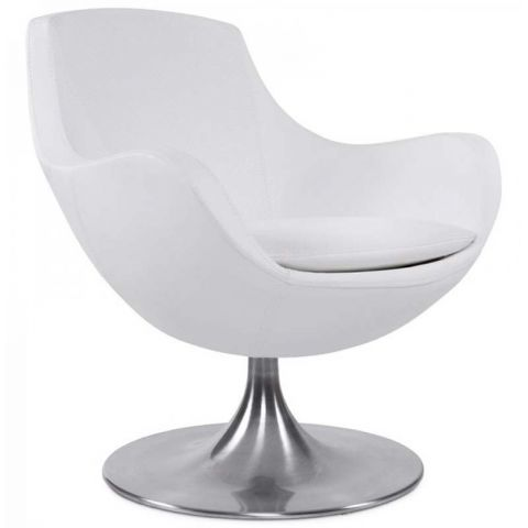 "Fauteuil Design ""Bloom"" Blanc"