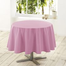 "Nappe Ronde Antitache ""Essentiel"" 180cm Rose Dragée"