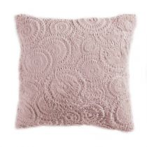 "Coussin Relief ""Eloise"" 40x40cm Rose"