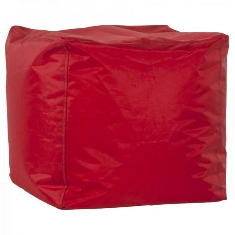 Pouf Design Cube Rouge