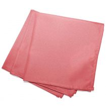 "Lot de 3 Serviettes de Table ""Essentiel"" 40x40cm Corail"