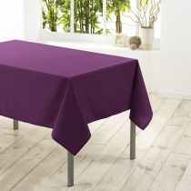 "Nappe Antitache ""Essentiel"" 180x180cm Prune"