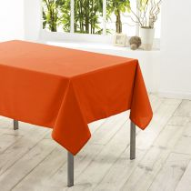 "Nappe Antitache ""Essentiel"" 180x180cm Orange Brique"