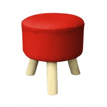 """Tabouret Rond """"Prince"""" 36cm Rouge"""