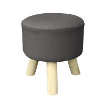 """Tabouret Rond """"Prince"""" 36cm Anthracite"""