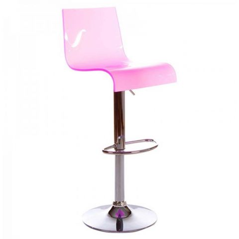 "Tabouret de Bar Rotatif ""Space"" Rose"
