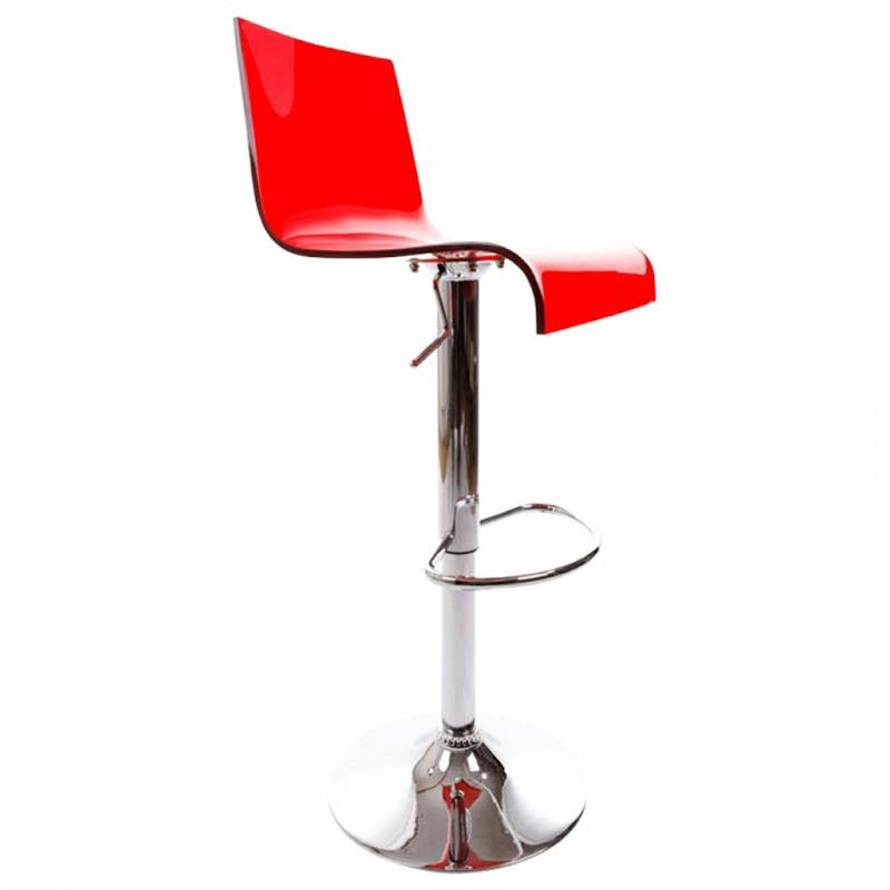 tabouret de bar rotatif space rouge. Black Bedroom Furniture Sets. Home Design Ideas