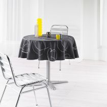 "Nappe Ronde Antitache ""Bully"" 180cm Anthracite"