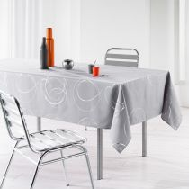 "Nappe Antitache ""Bully"" 150x240cm Gris Perle"