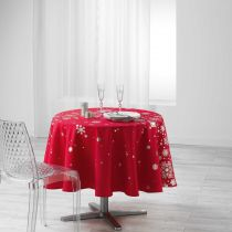"Nappe Ronde Antitache ""Constellation"" 180cm Rouge"
