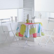 "Nappe Ronde Antitache ""Florida"" 180cm Multicolore"