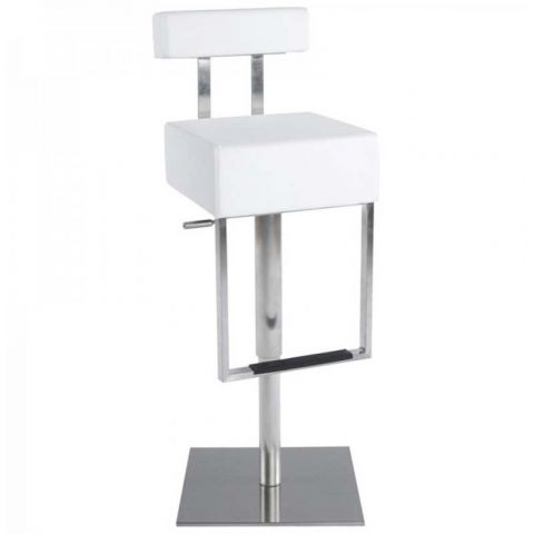 tabouret de bar zeus blanc. Black Bedroom Furniture Sets. Home Design Ideas