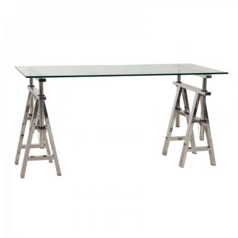 "Bureau Design ""Artiste"" 150cm Transparent"