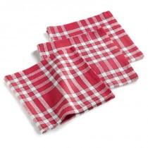 "Lot de 3 Serviettes de Table ""Traditio"" 45cm Rouge"