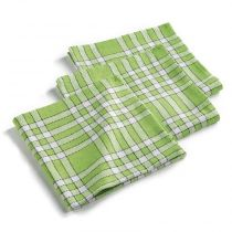 "Lot de 3 Serviettes de Table ""Traditio"" 45cm Vert Anis"