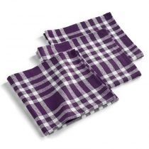 "Lot de 3 Serviettes de Table ""Traditio"" 45cm Prune"