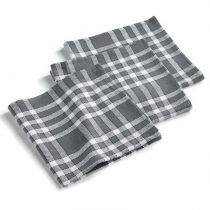 "Lot de 3 Serviettes de Table ""Traditio"" 45cm Anthracite"