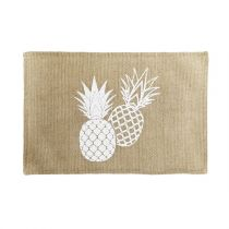 "Set de Table Jute ""Ananas Spirit"" 30x45cm Naturel"