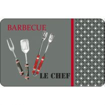 "Set de Table ""Barbecue"" 28x44cm Gris"