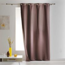 "Rideau Isolant ""Covery"" 140x260cm Taupe"