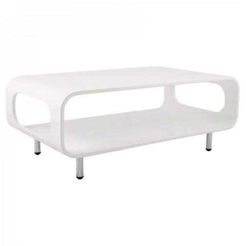 Table basse design Star blanc laqué