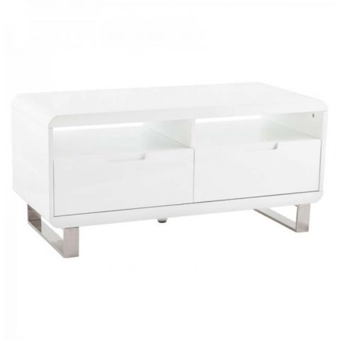 "Table Basse ""TV"" Corail Blanc"