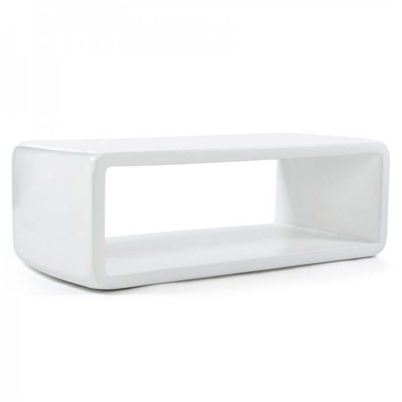 Table basse design stella blanche for Table design blanche