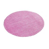 "Set de Table Rond ""Losamo"" 38cm Fuchsia"