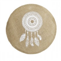 "Set de Table Jute Rond ""Indila"" 38cm Naturel"
