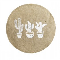 "Set de Table Rond Jute ""Mexico"" 38cm Naturel"