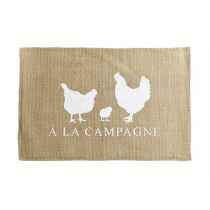"Set de Table Jute ""Campagnera"" 30x45cm Naturel"