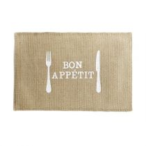 "Set de Table Jute ""Appetito"" 30x45cm Naturel"