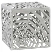 "Table d'Appoint Design ""Cube"" 37cm Aluminium"