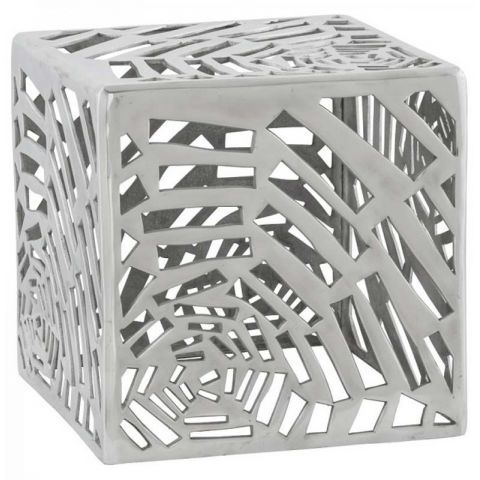 Table d'appoint Cube Aluminium
