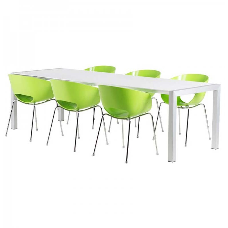 Table de salle manger extensible 170 260cm blanc brillant - Table de salle a manger extensible ...