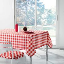 "Nappe Antitache ""Vichy"" 180x180cm Rouge"