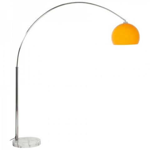 "Lampadaire Rétro ""Arc XL"" 195cm Orange"