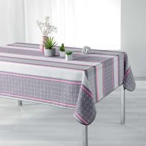 "Nappe Antitache ""Feliz"" 150x240cm Rose"