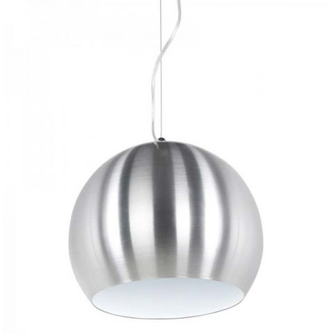 "Lampe Suspension ""Bulbo"" Chrome & Blanc"