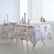 "Nappe Antitache ""Ephemis"" 150x240cm Rose"