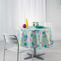 "Nappe Ronde Antitache ""Happy Summer"" 180cm Multicolore"