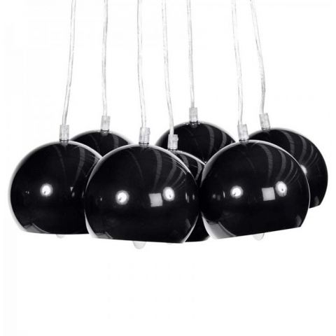 "Lampe Suspension ""Grappe"" Noire"