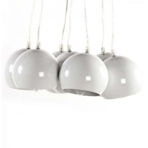 "Lampe Suspension ""Grappe"" Blanche"