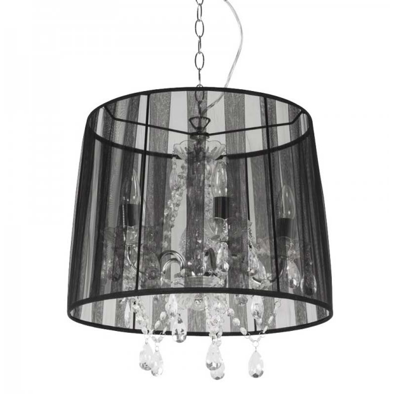 Lustre barocco noir paris - Suspension salon pas cher ...