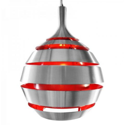 Lampe Suspension Ball Rouge