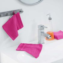 "Lot de 2 Gants de Toilette ""Vitamine"" 15x21cm Fuchsia"