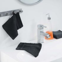 "Lot de 2 Gants de Toilette ""Vitamine"" 15x21cm Noir"